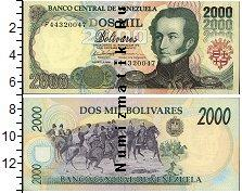 Каталог монет - монета  Венесуэла 2000 боливар