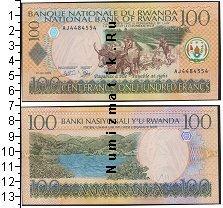 Каталог монет - монета  Руанда 100 франков