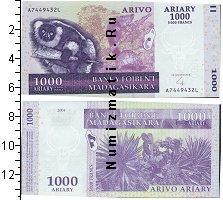 Каталог монет - монета  Мадагаскар 1000 ариари