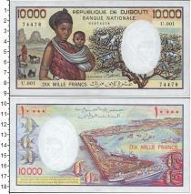 Каталог монет - монета  Джибути 10000 франков
