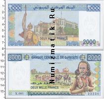 Каталог монет - монета  Джибути 2000 франков