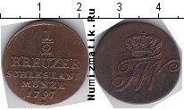 Каталог монет - монета  Пруссия 1/2 крейцера