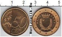 Продать Монеты Мальта 50 евроцентов 2008 Латунь