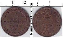 Каталог монет - монета  Анхальт-Бернбург 3 пфеннига
