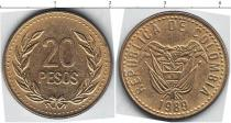 Каталог монет - монета  Колумбия 20 песо