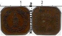 Каталог монет - монета  Малайя 1/2 цента