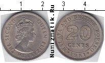 Каталог монет - монета  Малайя 20 центов