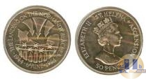 Каталог монет - монета  Остров Святой Елены 50 пенсов