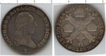 Каталог монет - монета  Габсбург 1/4 талера