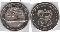 Каталог монет - монета  Галапагосские острова 25 сентаво