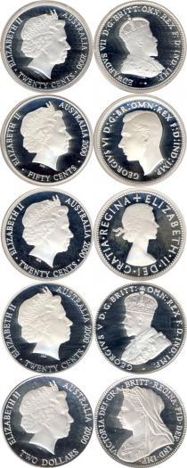 Каталог - подарочный набор  Австралия Монеты 20 века, Монархи