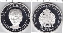 Продать Монеты Мальтийский орден 1000 лир 2005 Серебро