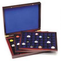 Каталог монет - монета  Кейсы Деревянный кейс для монет HMK3T MIX BL
