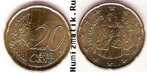 Каталог монет - монета  Сан-Марино 20 евроцентов