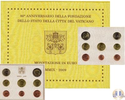 Каталог - подарочный набор  Ватикан Евронабор 2009
