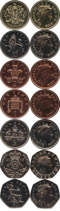 Продать Подарочные монеты Великобритания Новые гербы 2009