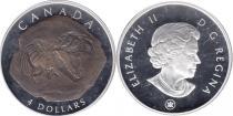 Продать Подарочные монеты Канада Палеонтология 2010 Серебро