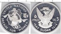 Продать Монеты Судан 5 фунтов 1984 Серебро