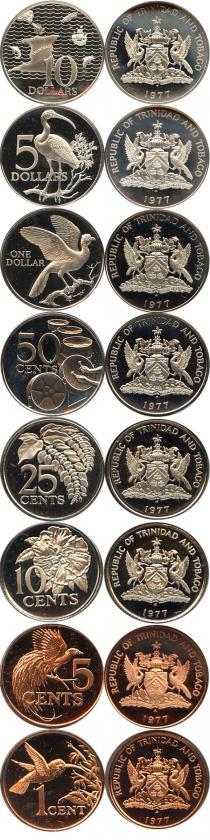 Каталог - подарочный набор  Тринидад и Тобаго Набор памятных монет 1975 года
