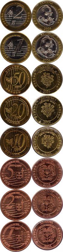 Каталог - подарочный набор  Армения Псевдоевронабор 2004 года