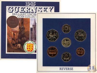 Каталог - подарочный набор  Гернси Выпуск 1985 года