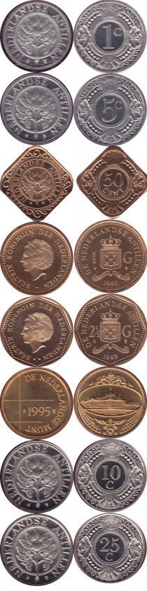 Каталог - подарочный набор  Антильские острова Выпуск 1995 года