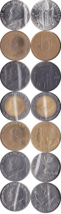 Каталог - подарочный набор  Ватикан Выпуск монет 1984 года
