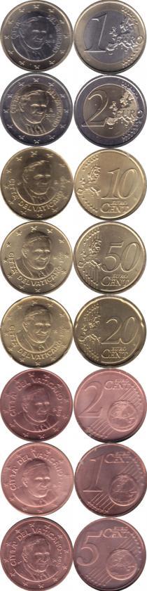 Продать Подарочные монеты Ватикан Евронабор 2010 года выпуска 2010