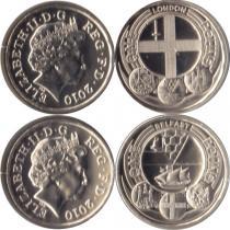 Продать Подарочные монеты Великобритания Новая серия монет 2010