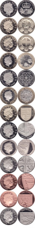Продать Подарочные монеты Великобритания Новые гербы 2010 2010