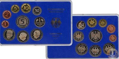 Каталог - подарочный набор  ФРГ Монеты 1979 (чеканка Карлсруэ)