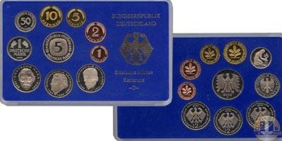 Каталог - подарочный набор  ФРГ Монеты 2000 (чеканка Карлсруэ)