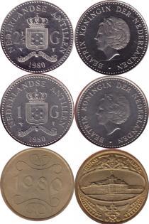 Каталог - подарочный набор  Антильские острова Выпуск 1980 года