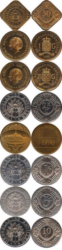 Каталог - подарочный набор  Антильские острова Выпуск 1990 года