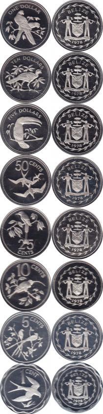 Каталог - подарочный набор  Белиз Монеты 1978 года в качестве proof