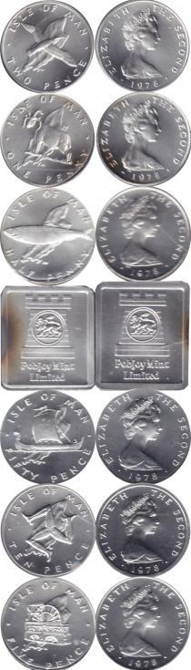 Каталог - подарочный набор  Остров Мэн Выпуск 1978 года в серебре