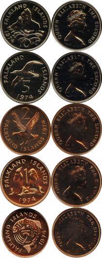 Каталог - подарочный набор  Фолклендские острова Выпуск 1974 года
