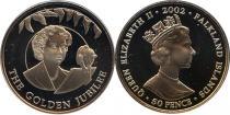 Каталог - подарочный набор  Фолклендские острова Золотой юбилей королевы
