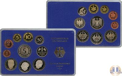 Каталог - подарочный набор  ФРГ Монеты 1983 (чеканка Штутгард)