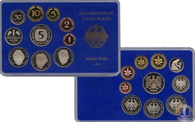 Каталог - подарочный набор  ФРГ Монеты 2000 (чеканка Берлин)
