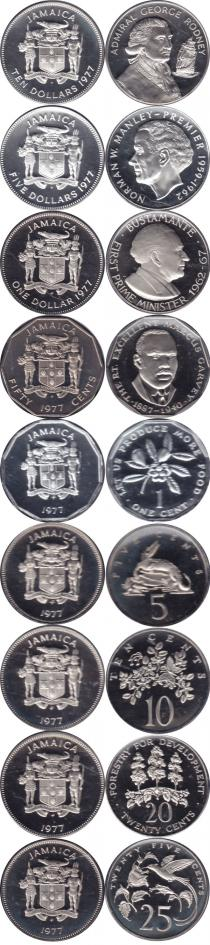 Каталог - подарочный набор  Ямайка Набор монет 77 года