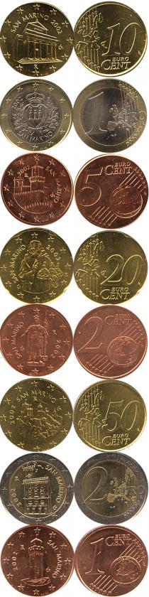 Каталог - подарочный набор  Сан-Марино Регулярный выпуск 2002