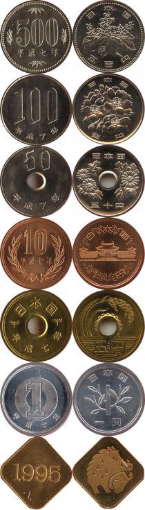 Каталог - подарочный набор  Япония Производство монет Японии