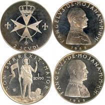 Каталог - подарочный набор  Мальтийский орден Набор монет 1968 года
