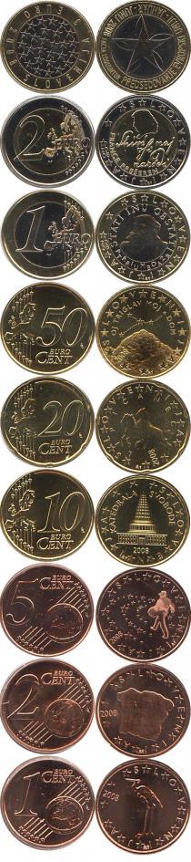 Каталог - подарочный набор  Словения Евронабор монет Словении 2008