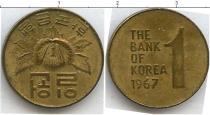 Каталог монет - монета  Южная Корея 1 вон