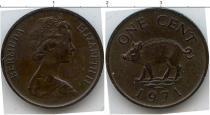 Каталог монет - монета  Бермудские острова 1 цен