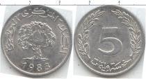 Каталог монет - монета  Тунис 5 мили