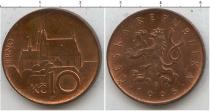 Продать Монеты Чехословакия 10 крон 1995 сталь с медным покрытием