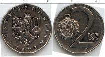 Продать Монеты Чехословакия 2 кроны 1993 Сталь покрытая никелем